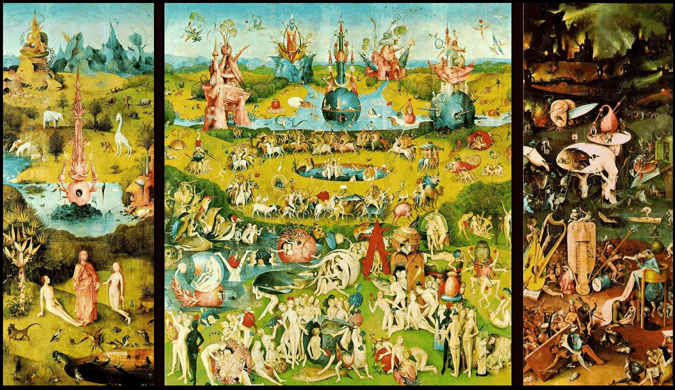 El bosco el pintor de los misterios for El jardin de las delicias significado
