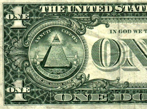 Piramide illuminati en el dolar