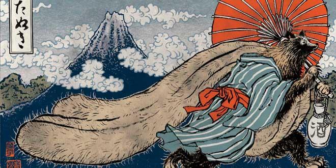 Tanuki mitologia japonesa