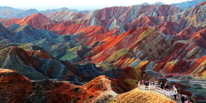 Zhangye Danxia en Gansu, China