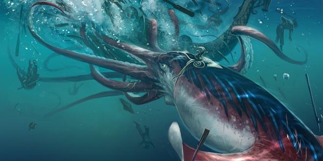 ataque calamar gigante
