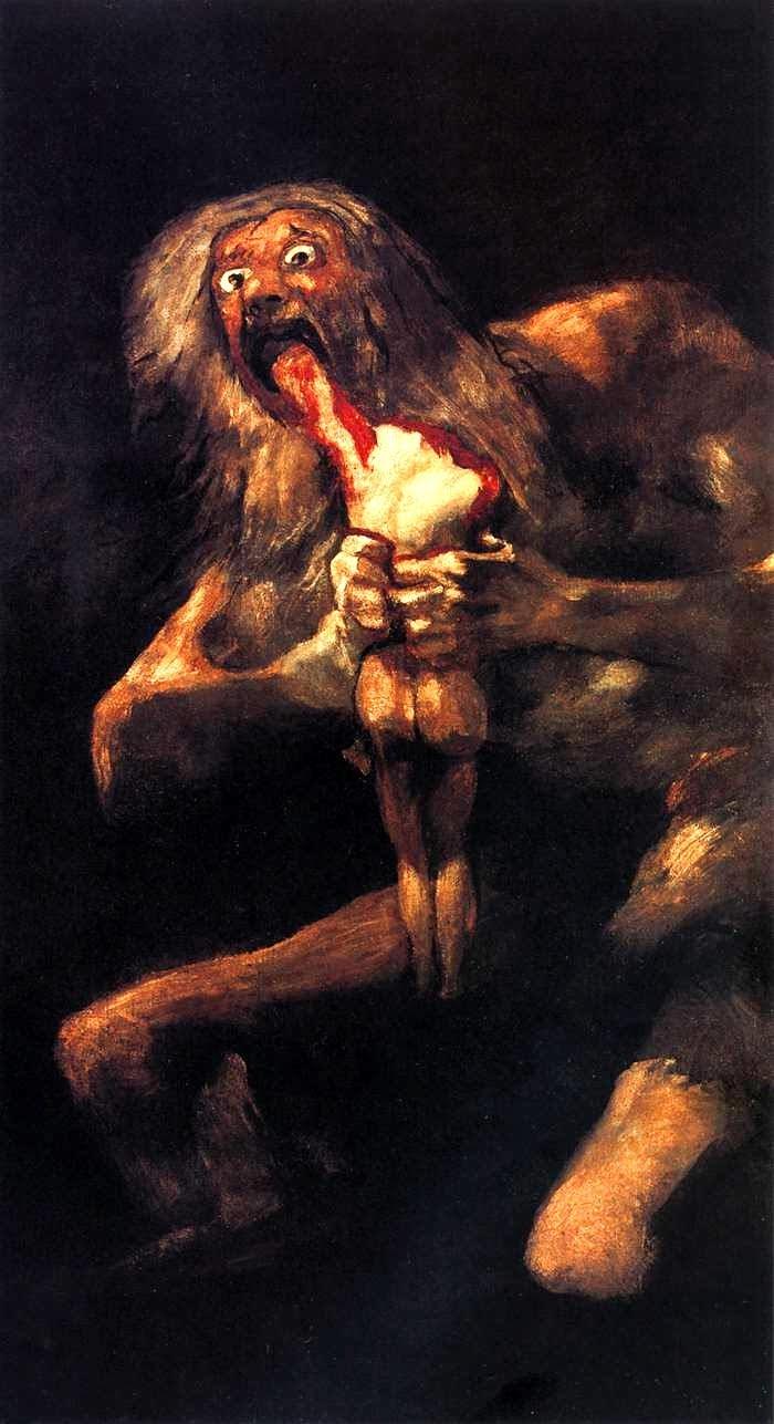 Francisco de Goya Saturno devorando a sus hijos 1823