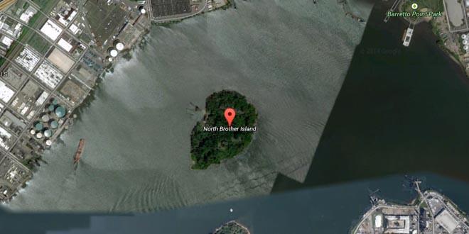 Isla abandonada Nueva York