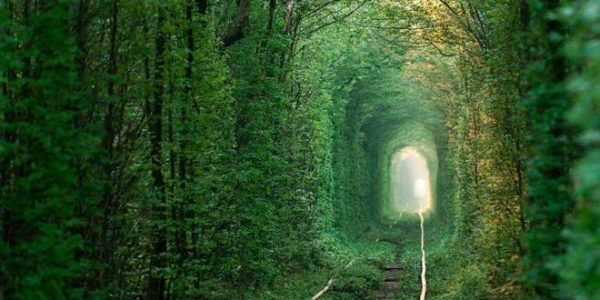 tunel del amor ucrania abandonados
