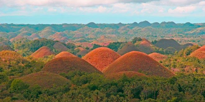 Las colinas de chocolate, en Filipinas