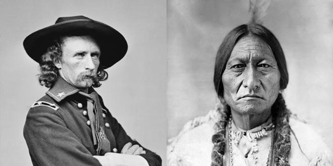 General Custer y Toro Sentado